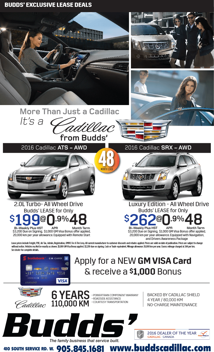 ATS & SRX Lease Special - Budds Cadillac