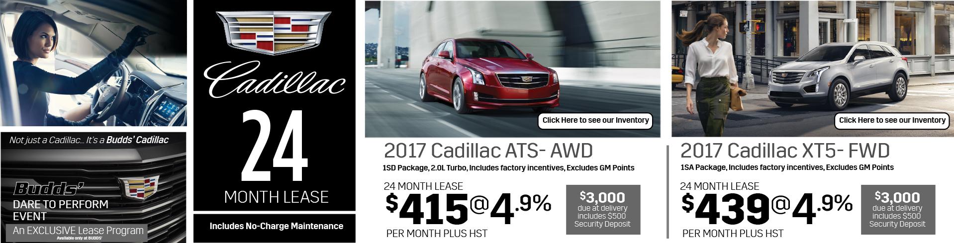 Cadillac 24 Month Lease, 2017 Cadillac ATS and 2-17 Cadillac-XT5
